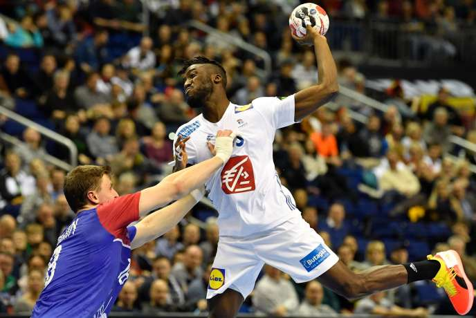 French player Luc Abalo during the match against Russia, in Berlin, on January 17th.