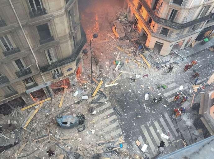 Le samedi 12 janvier, à 8 h 59, l'immeuble situé au 6, rue de Trévise a explosé, faisant quatre morts.