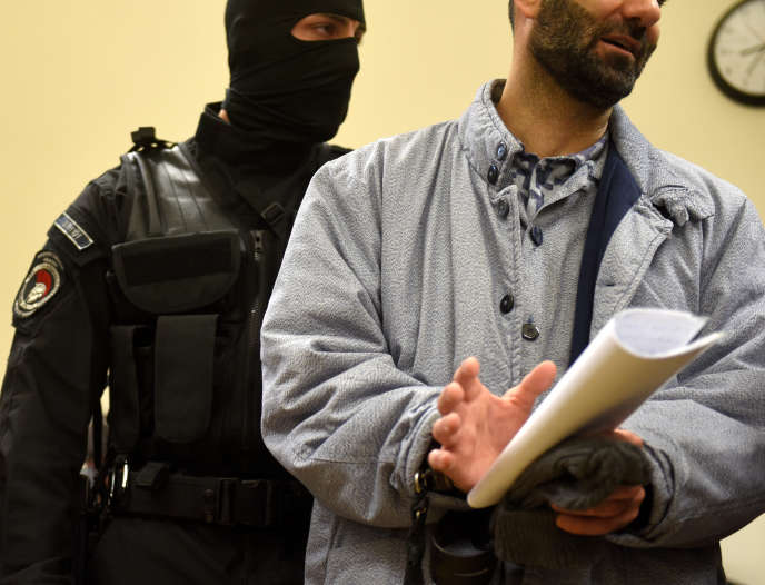 Ahmed H., lors d'une audience dans le cadre de la procédure intentée contre la Hongrie pour diffamation, le 17 janvier à Budapest.