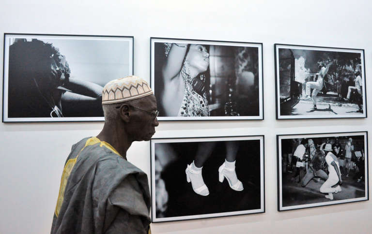 Aux Rencontres africaines de la photographie de Bamako, au Mali, le 2décembre 2017.