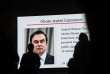 Un écran géant, dans les rues de Tokyo, le 8 janvier, montrant Carlos Ghosn.