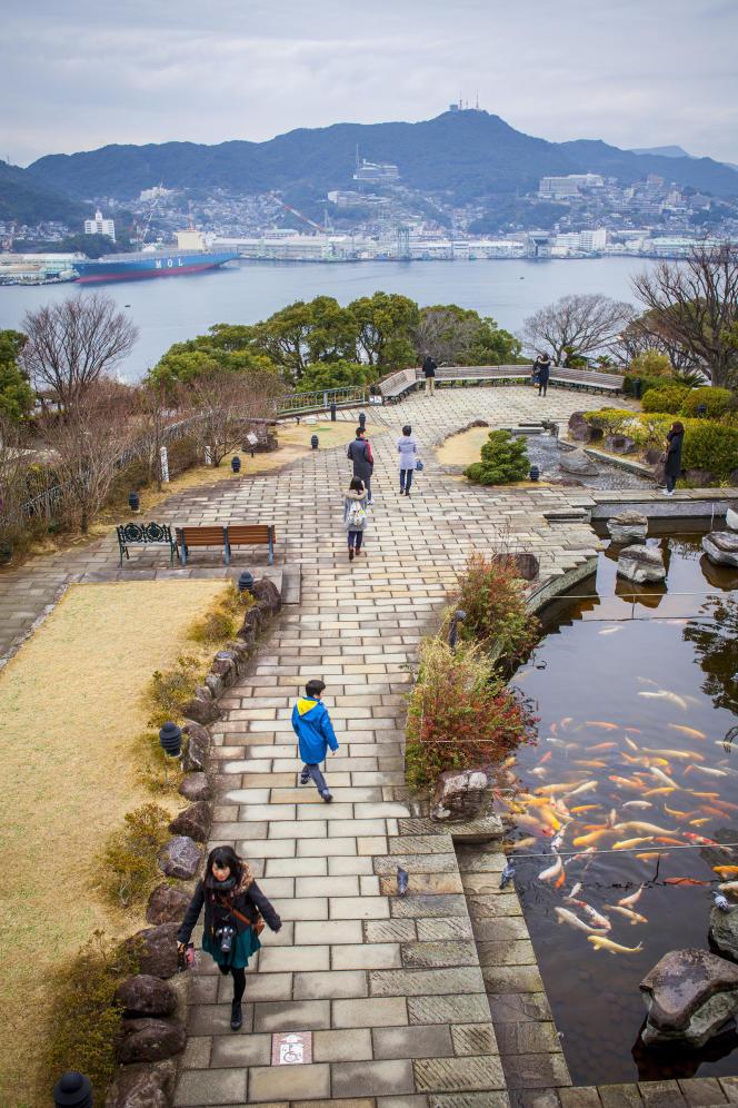 Le jardin Glover, datant de 1863, offre une vue imprenable sur la baie de Nagasaki (Japon).