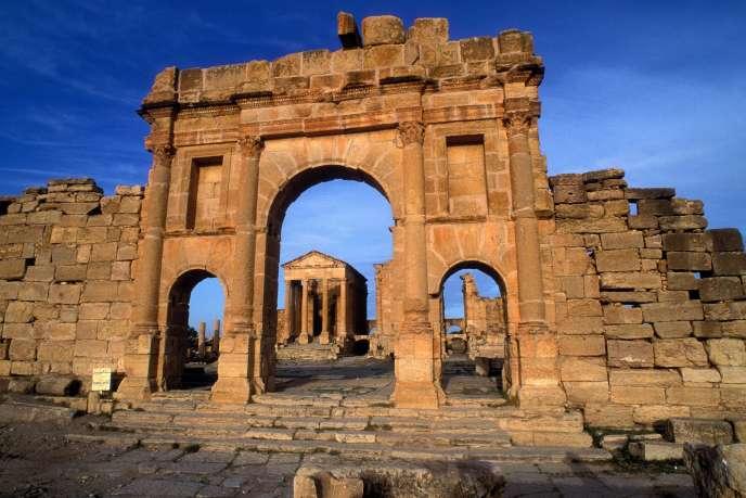 Le forum de Sufetula, à Sbeïtla, en Tunisie.