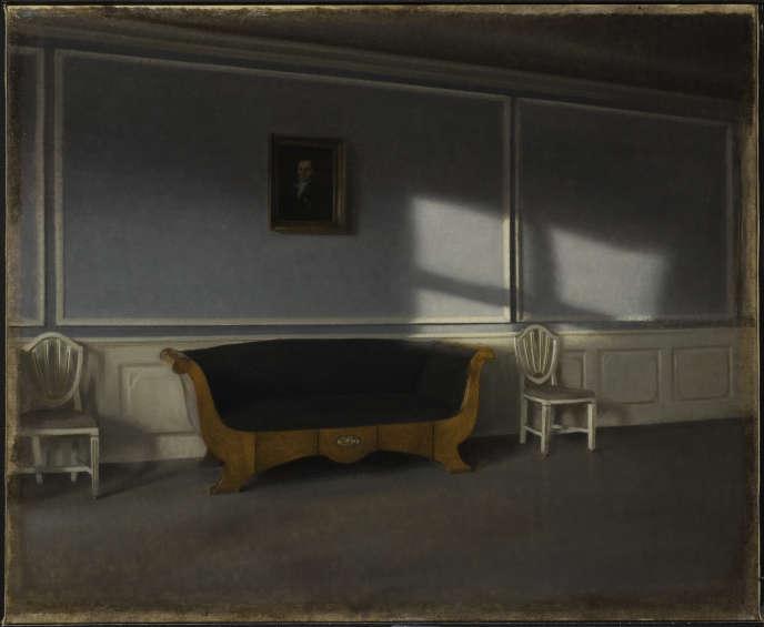 «Rayon de soleil dans le salon, III» (1903), de Vilhelm Hammershoi, huile sur toile, 54 x 66 cm.