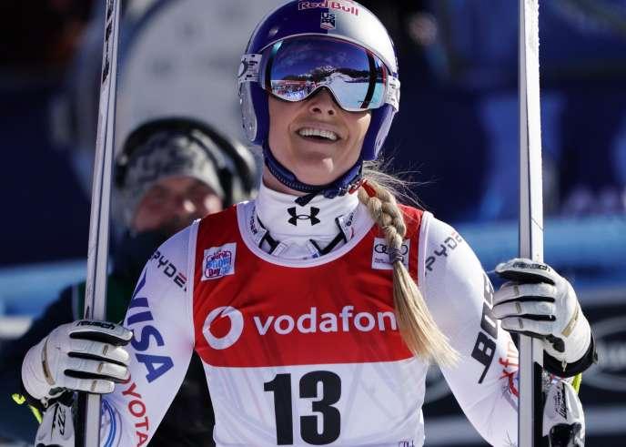 Lindsey Vonn après la descente de Cortina d'Ampezzo, 18 janvier.
