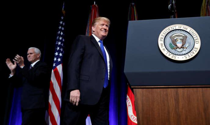 Donald Trump à Arlington (Virginie), le 17 janvier.