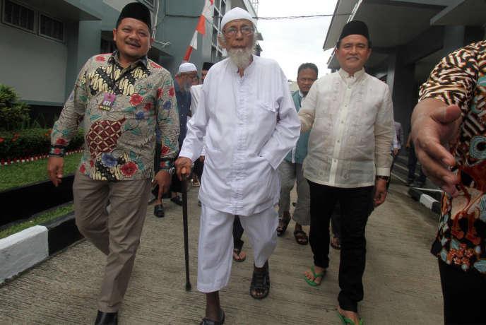 Abou Bakar Baachir, dans sa prison deBogor, en Indonesie, en janvier 2019.