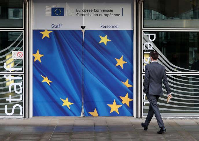 Le siège de la Commission européenne à Bruxelles, le 18 janvier.