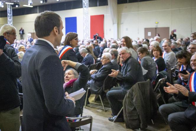 Emmanuel Macron, à Souillac (Lot), le 18 janvier.