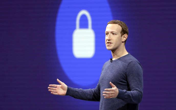 Le PDG de Facebook, Mark Zuckerberg, le 1er mai 2018, à San José (Californie).