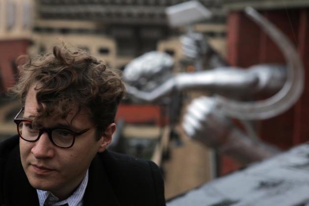 Le réalisateur russe Ilya Khrzhanovsky, sur le tournage de « DAU », à Kharkiv (Ukraine), en 2010.