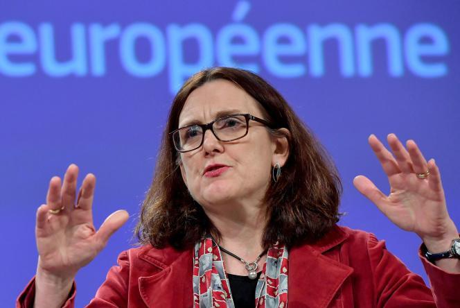 La commissaire européenne au commerce, la Suédoise Cecilia Malmström, vendredi 18 janvier, à Bruxelles.