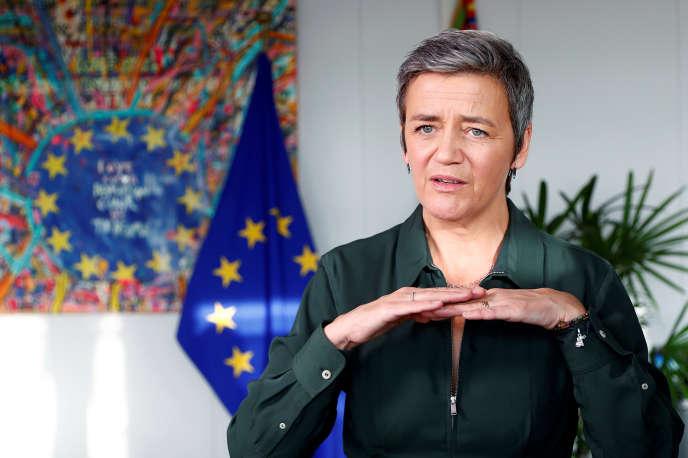 La commissaire européenne à la concurrence, Margrethe Vestager, à Bruxelles, en décembre 2018.