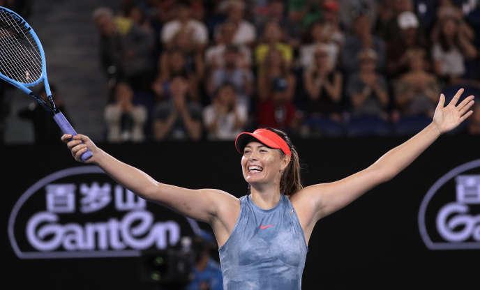 La Russe Maria Sharapova, le 18 janvier à Melbourne.