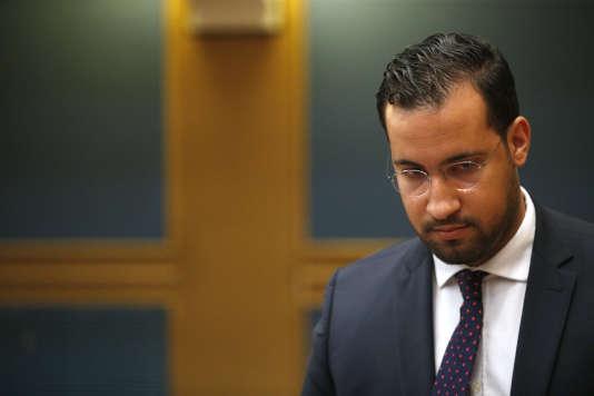 Alexandre Benalla lors de son audition au Sénat, le 19septembre2018.