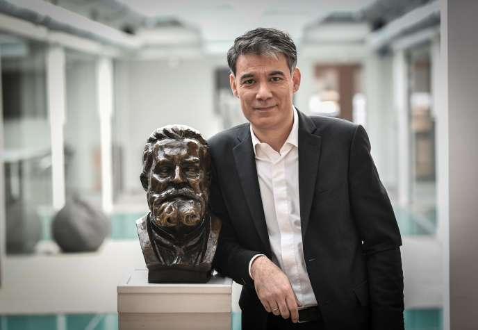Olivier Faure, premier secrétaire du PS, au siège du PS à Ivry-sur-Seine (Val-de-Marne), le 8 janvier.