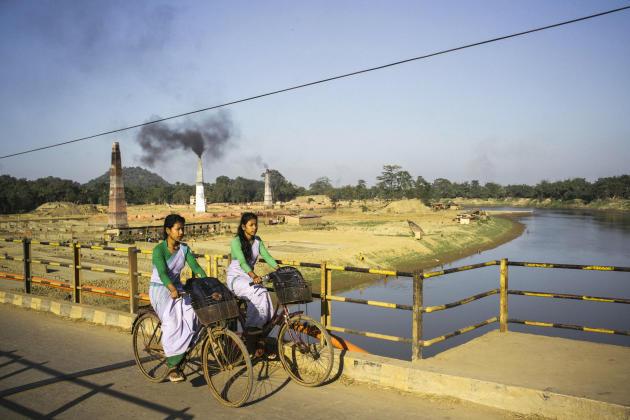 Guwahati, dans le nord-est de l'Inde, où l'on enregistre l'un des plus forts taux de cancer du pays.