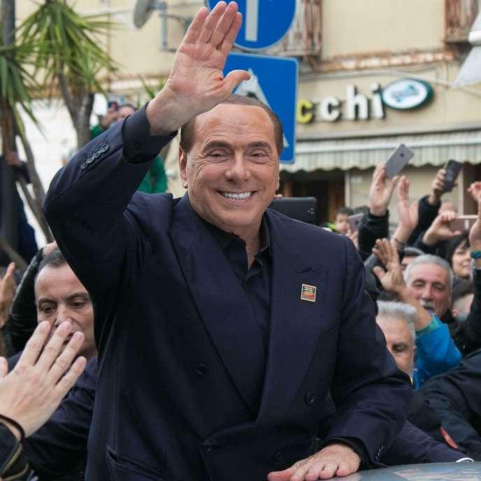 Silvio Berlusconi à Cagliari (Sardaigne), le 18 janvier 2019.