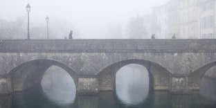 Le Vieux pont, à Niort, le 12 janvier
