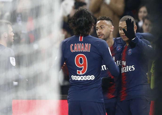 Kylian Mbappe, Neymar and Edinson Cavani, January 19, at the Parc des Princes.