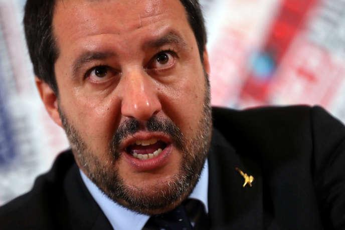 Matteo Salvini, ministre de l'intérieur et chef de fil de la Ligue (extrême droite), à Rome, le 10 décembre 2018.