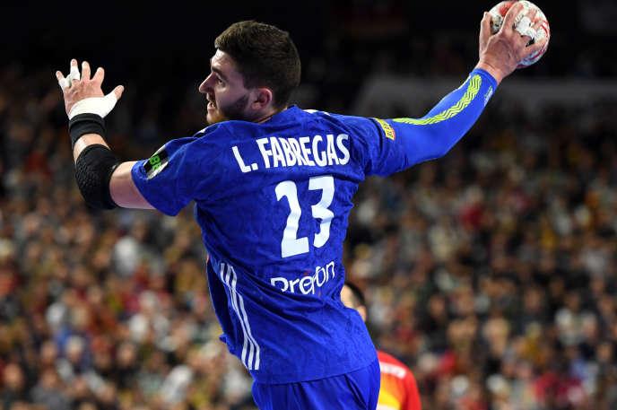 Le Français Ludovic Fabregas lors du match de championnat du monde de handball contre l'Espagne, à Cologne, le 19 janvier.