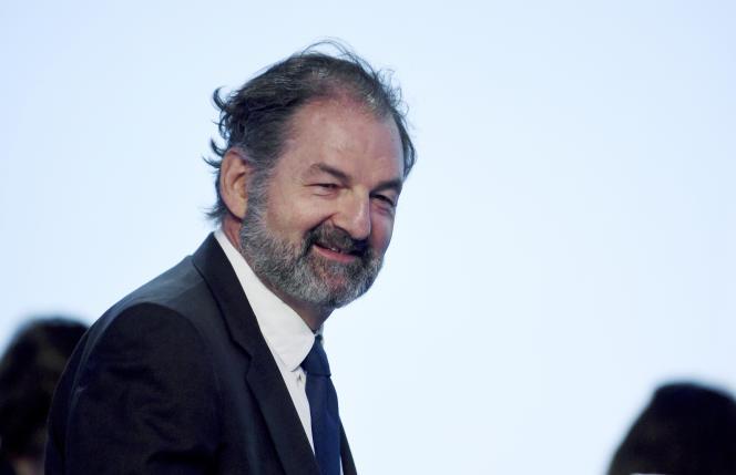 Denis Olivennes à l'AG du groupe Lagardère, le 3 mai 2018 à Paris.