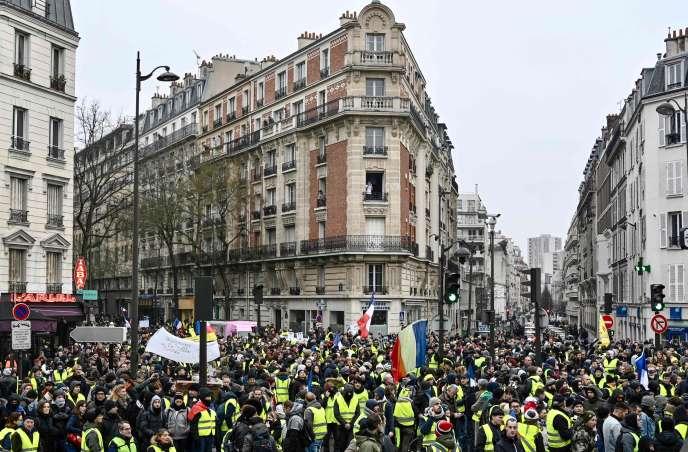 Manifestation des « gilets jaunes», samedi 19 janvier à Paris.