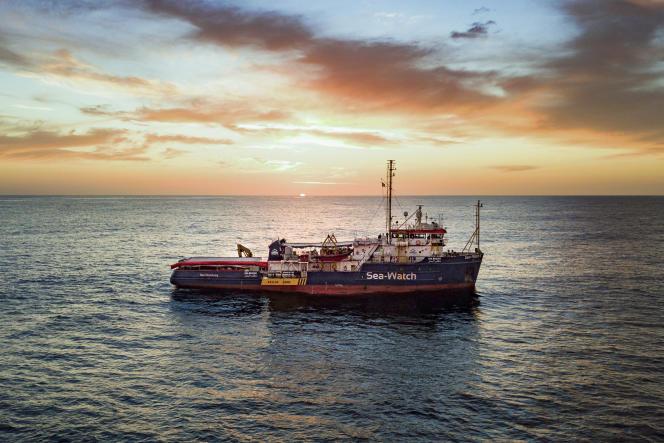 Le navire hollandais «Sea-Watch 3» en mer Méditerrannée, le 16 janvier 2019.
