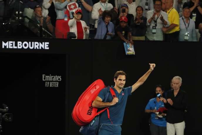 Double tenant du titre, Roger Federer a été battu en huitièmes de finale.