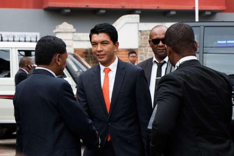 Le nouveau président de la République malgache, Andry Rajoelina, à Ambohidahy, le 8janvier.