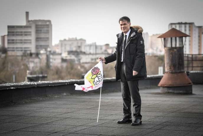 Le premier secrétaire du Parti socialiste, Olivier Faure, au nouveau siège du PS, à Ivry-sur-Seine (Val-de-Marne), le 8 janvier.