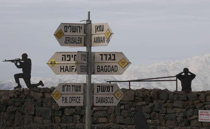 Au mont Bental, sur le plateau du Golan, territoire occupé par Israël, le 20 janvier.