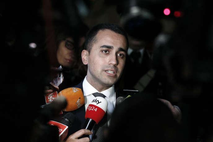 Le vice président du conseil, Luigi Di Maio, le 21 janvier à Rome.