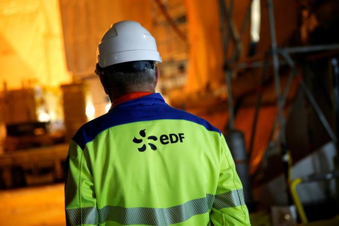 Sur le chantier de l'EPR de Flamanville (Manche), en novembre 2016.