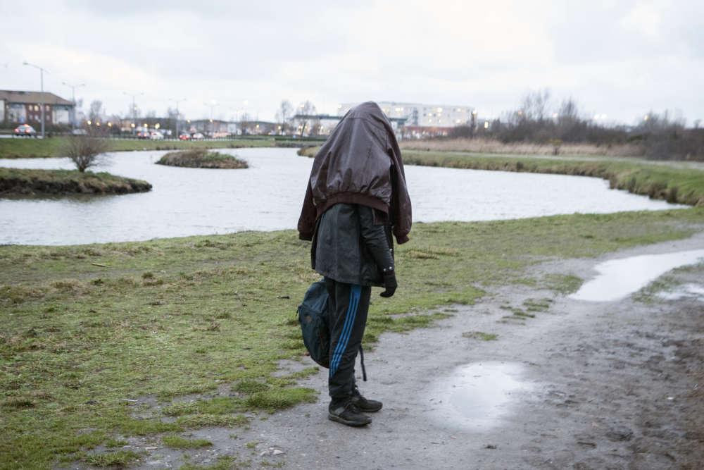 Calais, le 17 janvier, quelques minutes avant le démantèlement du camp «Hospital».