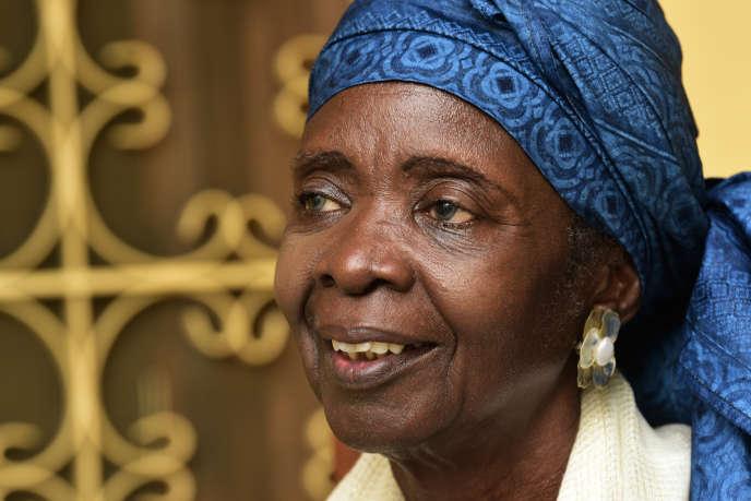 L'écrivaine sénégalaise Aminata Sow Fall, à Dakar, en octobre 2017.