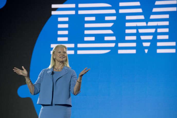 La présidente et directrice générale d'IBM, Ginni Rometty, le 11 juin 2018 à Hanovre.