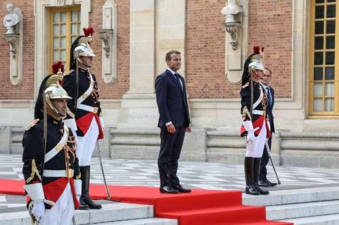 Le président de la République, Emmanuel Macron, au Château de Versailles, le 12 septembre 2018.