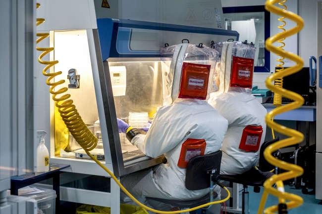 Laboratoire P4 Jean Meirieu, Inserm, pour l'étude des micro-organismes pathogènes spéciaux de type Ebola.