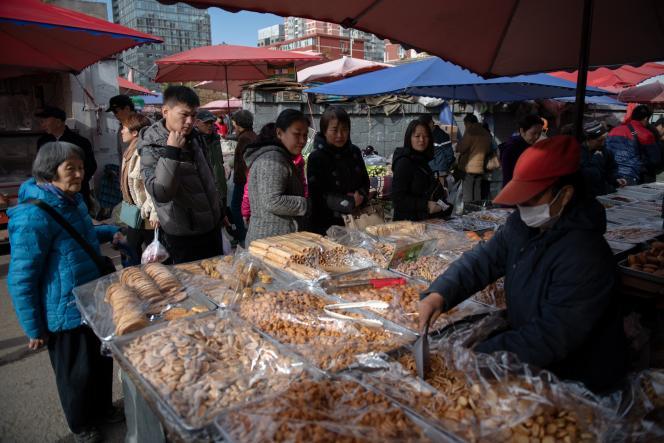 Un marché, à Pékin, le 20 novembre 2018.