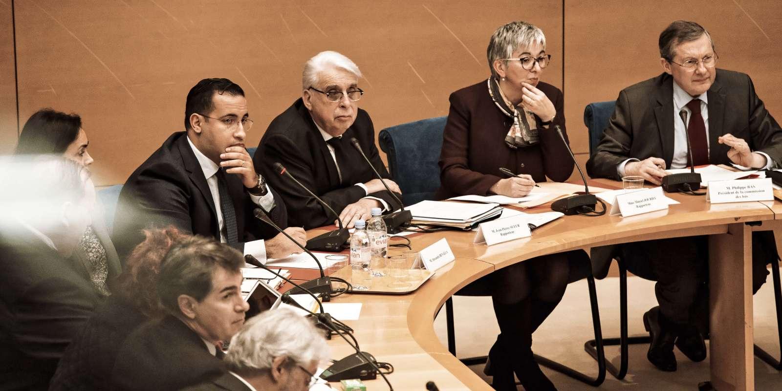 Audition d'Alexandre Benalla au Sénat par la commission des lois, le lundi 21 janvier 2019.