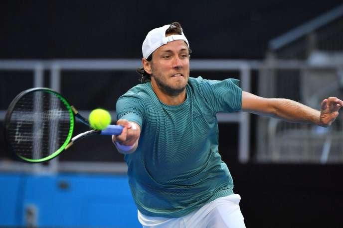 Lucas Pouille à l'Open d'Australie, lundi 21janvier.