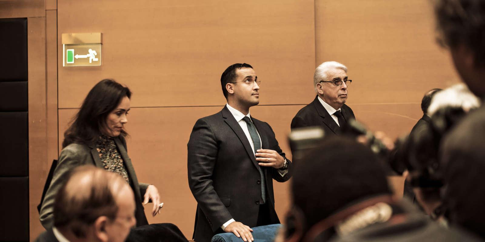 Audition d'Alexandre Benalla au Sénat par la commission des lois du Sénat, salle Clémenceau, le lundi 21 janvier 2019.