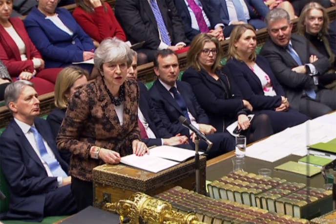 La première ministre britannique, Theresa May, à la Chambre des communes, le 21janvier.