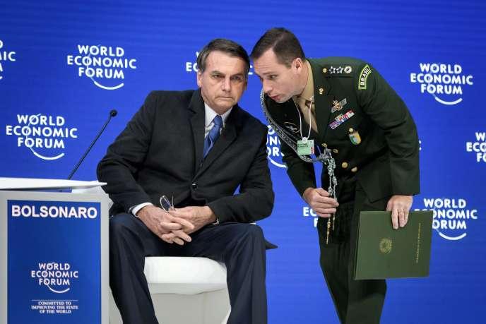 Jair Bolsonaro, le 22 janvier au Forum de Davos, en Suisse.