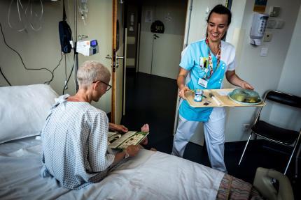 A l'hôpital Léon Bérard, centre de lutte contre le cancer, à Lyon, en septembre 2018.