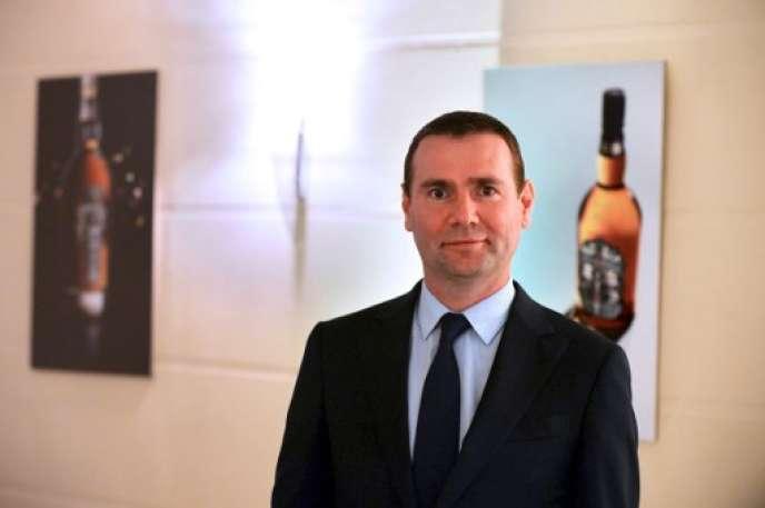Alexandre Ricard, PDG du groupe Pernod Ricard, le 1er septembre 2016 au siège de l'entreprise, à Paris.
