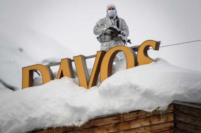 Le 21 janvier, lors du Forum économique mondial de Davos.