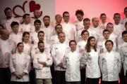 Lors de la cérémonie de remise des prix du guide Michelin, le 21 janvier, à Paris.